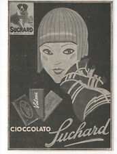 Pubblicità 1933 SUCHARD CIOCCOLATO CHOCOLATE SWEET advertising werbung publicitè