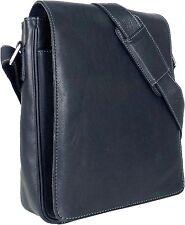 UNICORN Bolsa de cuero genuino - iPad, Tablet accesorios Bolsa - Negro #1E