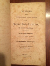 RARE 1856 Baptist State Convention North Carolina, Raleigh, Wake Forest College