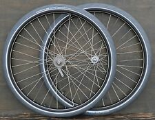 "Antique Bicycle 28"" WHEELS Vintage New Departure Morrow Hubs Tires Wood Rim Bike"