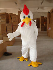 New White Chicken Mascot Costume Adult Size Fancy Dress Halloween Birthday Gift