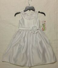 NEW ASHLEY ANN FORMAL DRESS WHITE WEDDING FLOWER GIRL SIZE 6 NWT $80