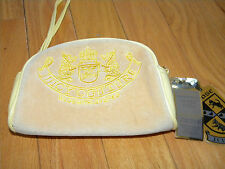 Juicy Couture Yellow Velour Make Up Cosmetic Case Purse Cross Body strap too!