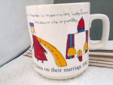 HORNSEA MUG FOR THE WEDDING OF PRINCE CHARLES AND DIANA  DESIGNED BY PUPILS