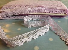 1 metre UNUSED VTG 50s 60s SWISS lace lilac cotton craft trimming sewing retro