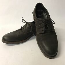 Clarks 4 Eye Oxford Men's 7.5M Brown Suede Leather Lace Up EUC Nice!