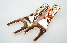 4pcs Aucharm Reines Kupfer Lautsprecher Spade Plugs - Solder Free Design