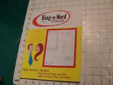 Unused High Grade: RING-A-WORD cirlce a word PUZZLE july 1974: UNUSED, vol 1 #1
