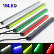 2pcs 18LED Ultra-thin Invisible Waterproof DRL Strip High Brightness Light Bar