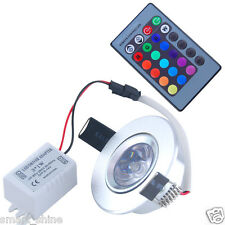 3W LED RGB Ceiling Wall Licht Recessed Remote Control Spotlight Deckenleuchte