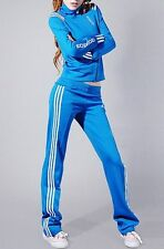 Adidas Blue & White Stripe Tracksuit PANTS