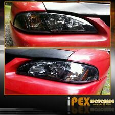 1994-1998 Ford Mustang Black 1PC Style Headlights With Corner Signal Lights