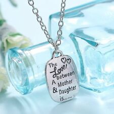 "Letter Secret Message""The LOVE Between A Monther&Daughter""Charm Pendant Necklace"