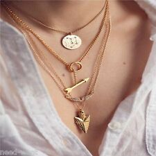 Fashion Charm Jewelry Chain Pendant Geometry Choker Chunky Statement Necklace UK