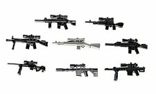 Sniper Rifles Weapons Pack Compatible (P14) w/toy brick minifigures Police Army