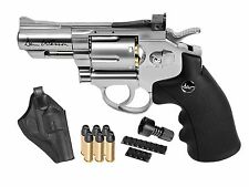 Dan Wesson 2.5 CO2 0.177 cal Pellet Metal Revolver Kit. Holster, Speedloader, ..