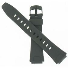 Genuine Factory Casio 22.5/16mm Black Resin Replacement Watch Band 10285465