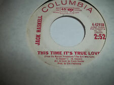 JACK HASKELL WLP PROMO 45 I'LL REMEMBER HER /THIS TIME IT'S TRUE LOVE VG+ TO EXC