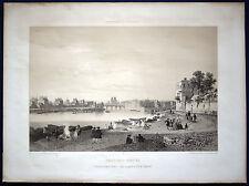 PARIS im 18. Jahrhundert Lithographie von 1861 nach Benoist Original!