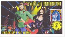 JVC CACHETS - 2014 JANIS JOPLIN & TEDDY ROOSEVELT L.E. OF 14 FIRST DAY COVER FDC