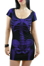 Kreepsville 666 Purple skeleton dress Punk grunge gothic halloween