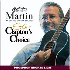 Martin Eric Clapton Acoustic Guitar Strings MEC12 PB Light Gauge 12 - 54