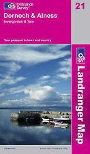 Dornoch & Alness, Invergordon & Tain - OS Landranger Map 21 (NEW, 2008)