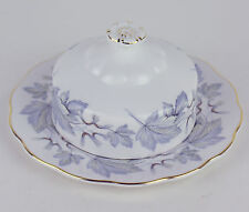 COVERED BUTTER DISH Royal Albert SILVER MAPLE