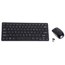 Mini Thin 2.4G Wireless Keyboard and Optical Mouse Combo Kit for Desktop PC