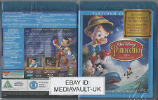 PINOCCHIO DISNEY BLU RAY - NUMBERED SPINE - PLATIN - NEW AND SEALED - UK RELEASE