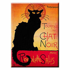 FRIDGE MAGNET BLACK CAT  LA TOURNEE DU CHAT NOIR PARIS FRANCE STEINLEN ART