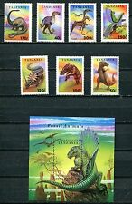 TANZANIA 1994 PREHISTORIC ANIMALS - DINOSAURS MINT SET & SHEET - $11.50 VALUE!