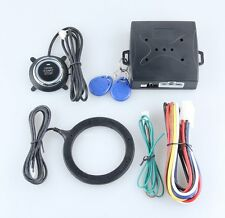 RFID Car Alarm System Push Button Start Keyless go Transponder Immobilizer DC12V