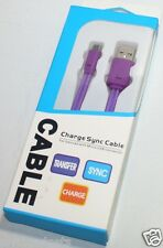 LED Light Micro USB Charge Sync Flat Cable For Nokia/Blackberry/Samsung/LG/HTC