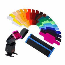 Color Gels Filter 20pc FLash Speedlite Speedlight w/Gels-Band kit SE-CG20