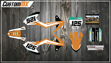 KTM SX50 SX65 Graphics Kit with custom numbers etc - SX 50 65 2002-2016 ProStock