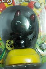 Black Fortune Cat solar powered swinging bobblehead Japanese Plastic wobble toy