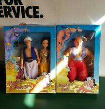 "Disney Aladdin Princess & Genie 10"" K/O Figures - Mint in Box - Sealed - China"