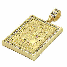 """Mens 14K Gold Plated Malverde Hip-Hop 4 mm/24"""" Rope Chain With pendant"""