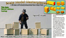 Wood Crates/Boxes-(8pcs Sm) Scale Model Masterpieces/ Yorke On30 Fine Craftsman