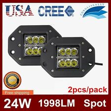 2X 24W CREE LED Work Light Bar Spot Driving Off Road Fog 4WD SEKILL 16w 5inch US