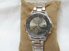 Men's Seiko Two Tone Chrono 100M Watch SS Bracelet Band 7T92-0NY0 Date