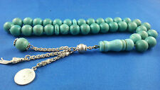 Turquoise Worry Prayer Beads  Tasbih Masbaha Rosary Antique Vintage O1