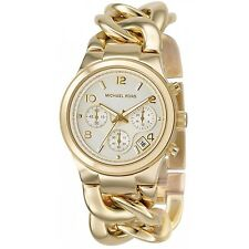 Michael Kors MK3131 Gold Runway Twist Chain-Link Women's Watch - New in Box