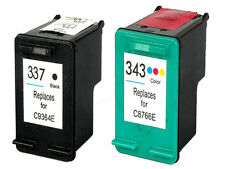 Replaces Fit For HP 337 343 Deskjet 6940dt 6980 6980dt Ink Cartridges