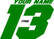 CUSTOM NAMED RACING MX NUMBER PLATE DECALS/STICKERS SUPERCROSS SUPERBIKE ATV