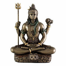 Hindu Shiva in Meditation with Trident Statue God Lord of Dance Miniature #3300