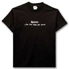 OPTIMIST LIKE THAT DOES ANY GOOD T SHIRT NEW XXL W/ TAGS ONE LINER STYLE