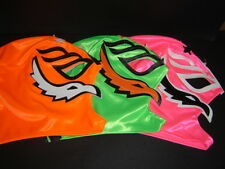 LOT 3 ADULT REY MYSTERIO PINK-GREEN-ORANGE mexican wrestling mask free