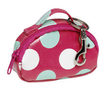 Red Spotty Oilcloth Mini Bag Keyring Key Chain Katz Dancewear KR11 Christmas